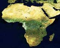 Satellite mosaic of Africa