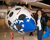 Anousheh Ansari and Spaceship-1